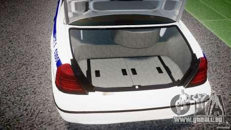 Ford Crown Victoria NYPD [ELS] pour GTA 4 est une vue de l'intérieur