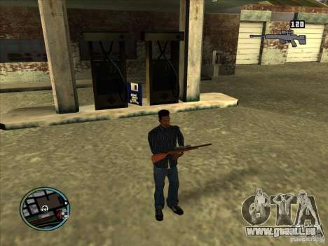 SA IV WEAPON SCROLL 2.0 für GTA San Andreas her Screenshot