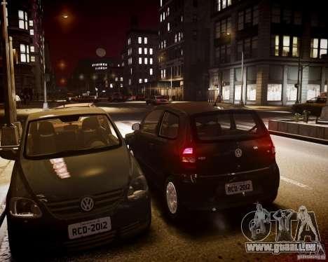 Volkswagen Fox 2011 pour GTA 4 est une vue de l'intérieur