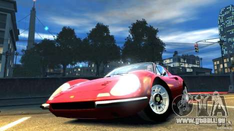 Ferrari Dino 246 GTS pour GTA 4 est un droit