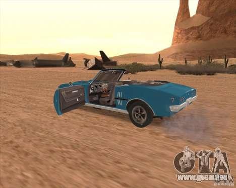 Pontiac Firebird Conversible 1966 für GTA San Andreas Seitenansicht