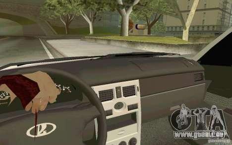 Lada Priora DPS pour GTA San Andreas sur la vue arrière gauche