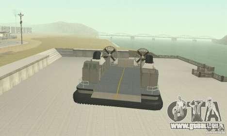 Landing Craft Air Cushion für GTA San Andreas rechten Ansicht