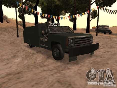 GMC SIERRA 3500 pour GTA San Andreas vue intérieure