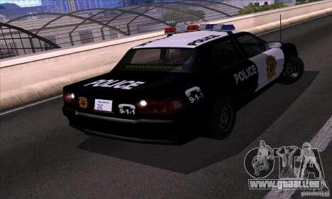 NFS Undercover Police Car pour GTA San Andreas vue de droite