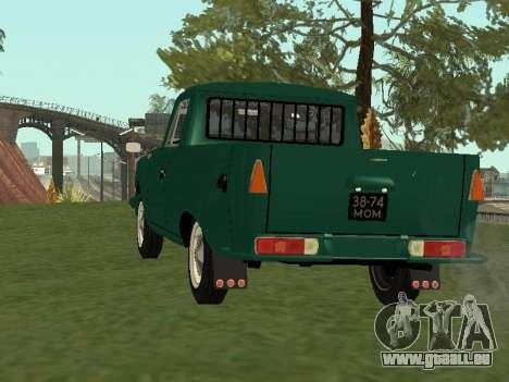 IZH 27151 PickUp pour GTA San Andreas sur la vue arrière gauche