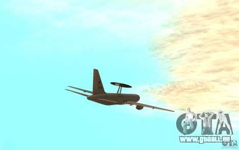 Boeing E-767 für GTA San Andreas zurück linke Ansicht