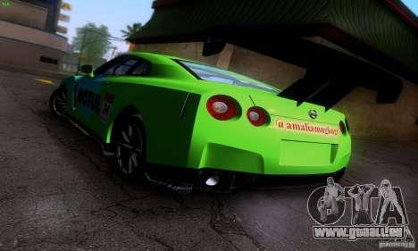 Nissan GTR R35 Tuneable pour GTA San Andreas vue de dessous