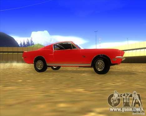 Shelby GT500KR 1968 pour GTA San Andreas laissé vue