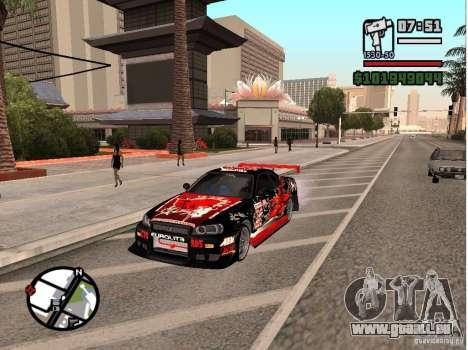 Nissan Skyline R34 für GTA San Andreas