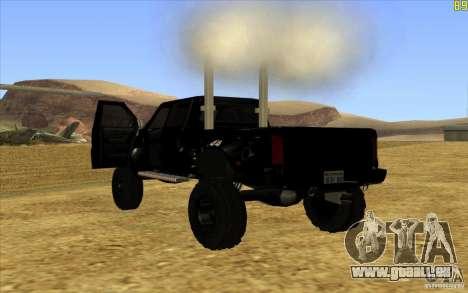 GMC Topkick Ironhide TF3 für GTA San Andreas zurück linke Ansicht