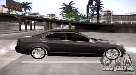 Mercedes-Benz S600 v12 pour GTA San Andreas laissé vue