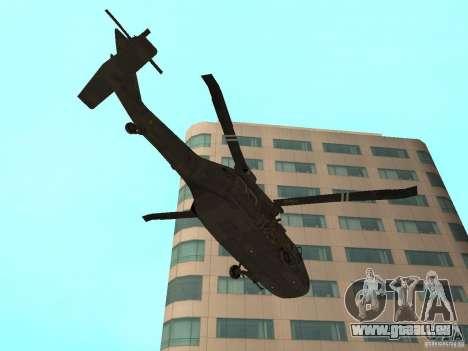UH-60 Black Hawk pour GTA San Andreas vue de droite