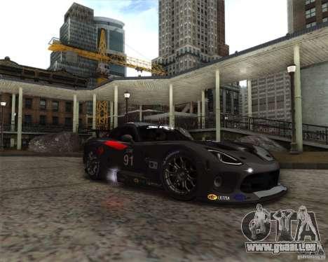 SRT Viper GTS-R V1.0 pour GTA San Andreas sur la vue arrière gauche