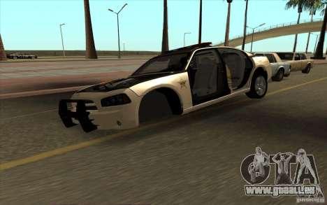 County Sheriffs Dept Dodge Charger pour GTA San Andreas vue de droite