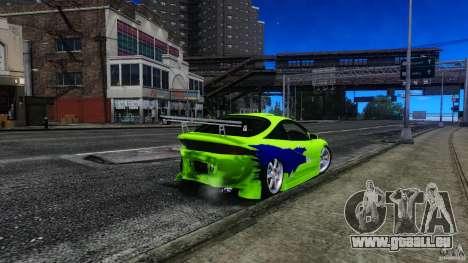 Mitsubishi Eclipse GSX FnF für GTA 4 Seitenansicht