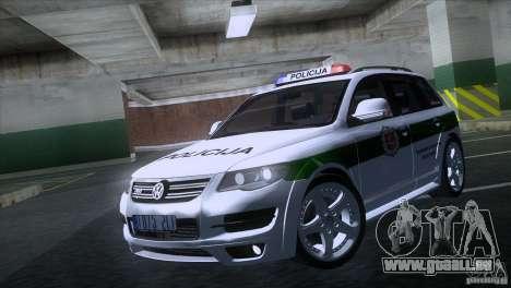 Volkswagen Touareg Policija für GTA San Andreas linke Ansicht