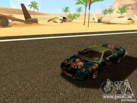 Honda NSX Custom für GTA San Andreas Innenansicht