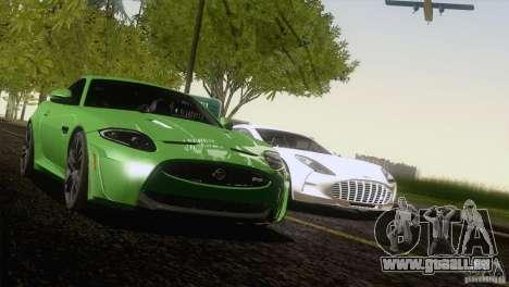 Jaguar XKR-S 2011 V1.0 pour GTA San Andreas vue de côté