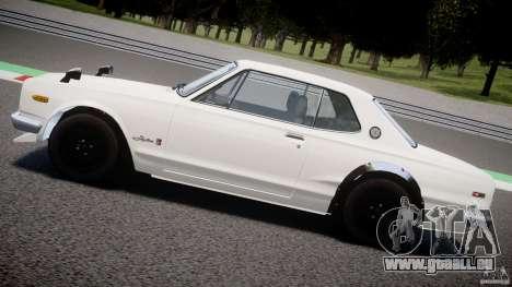 Nissan Skyline 2000 GT-R pour GTA 4 est une vue de dessous