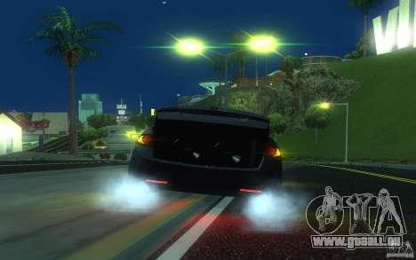 Honda Accord pour GTA San Andreas vue de dessous