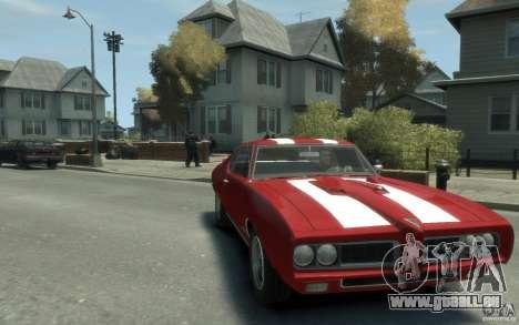 Pontiac GTO Hardtop 1968 v1 für GTA 4 Rückansicht