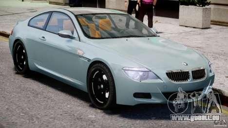BMW M6 G-Power Hurricane pour GTA 4 est une vue de l'intérieur
