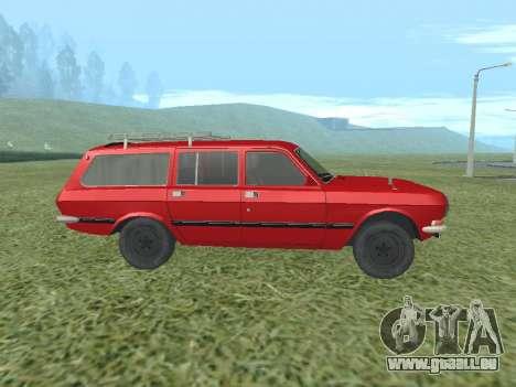 Volga GAZ-24 02 pour GTA San Andreas sur la vue arrière gauche