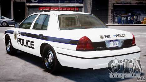 Ford Crown Victoria 2003 FBI Police V2.0 [ELS] für GTA 4 rechte Ansicht