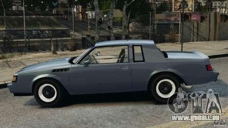 Buick GNX 1987 pour GTA 4 est une gauche