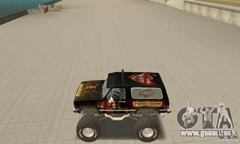 Chevrolet Blazer K5 Monster Skin 4 für GTA San Andreas