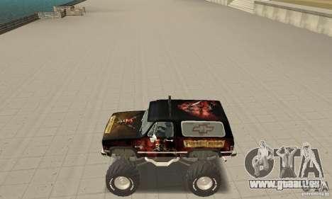Chevrolet Blazer K5 Monster Skin 4 pour GTA San Andreas