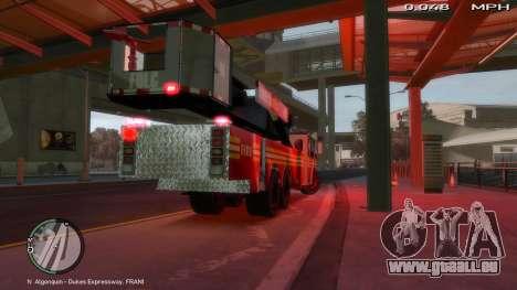 SS10 Tower Ladder v1.0 für GTA 4 hinten links Ansicht