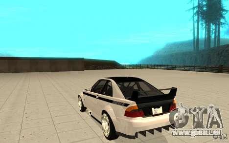 GTA IV Sultan RS FINAL pour GTA San Andreas sur la vue arrière gauche