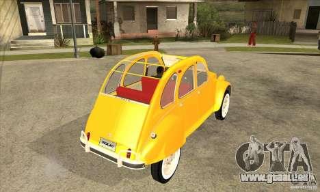 Citroen 2CV für GTA San Andreas rechten Ansicht