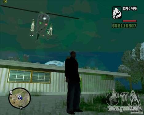 Hubschrauber-Hilfe für GTA San Andreas