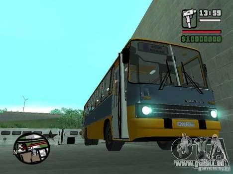 Ikarus 263 pour GTA San Andreas sur la vue arrière gauche