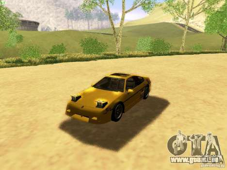 Pontiac Fiero V8 für GTA San Andreas Unteransicht
