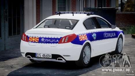 Peugeot 508 Macedonian Police [ELS] pour GTA 4 Vue arrière de la gauche