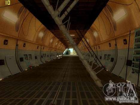 Lockheed C-5M Galaxy für GTA San Andreas rechten Ansicht
