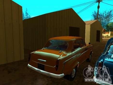 Moskvich 403 Taxi pour GTA San Andreas sur la vue arrière gauche