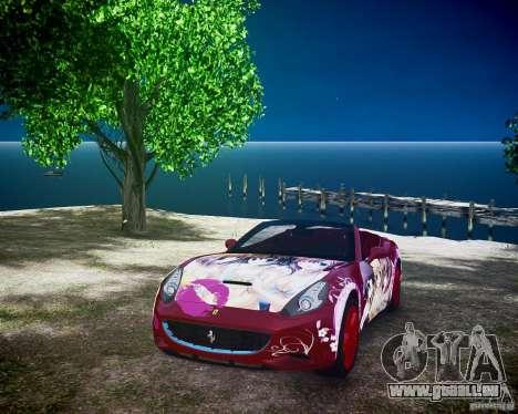 Ferrari California DC Texture pour GTA 4 Vue arrière