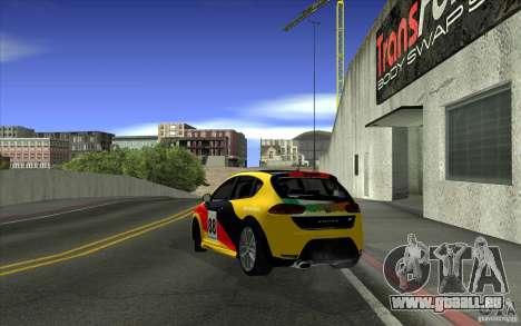 Seat Leon Cupra R für GTA San Andreas obere Ansicht