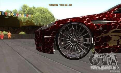 Aston Martin DB9 Female Edition pour GTA San Andreas vue intérieure