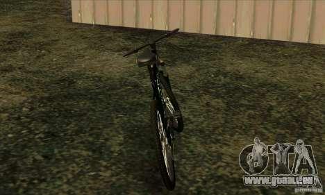 Vélo avec Monster Energy pour GTA San Andreas sur la vue arrière gauche