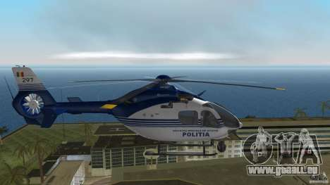 Eurocopter Ec-135 Politia Romana pour une vue GTA Vice City de la droite