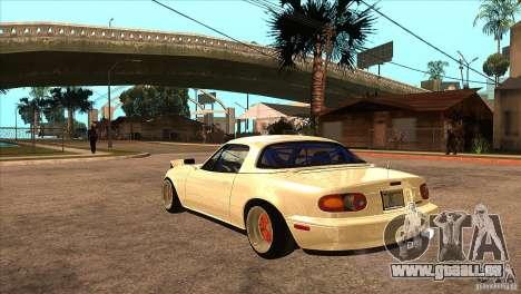 Mazda Miata JDM pour GTA San Andreas sur la vue arrière gauche