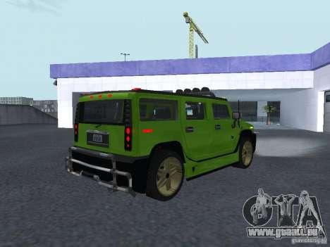 HUMMER H2 Tunable für GTA San Andreas rechten Ansicht