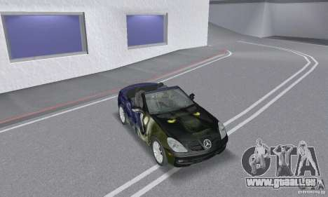 Mercedes-Benz SLK 350 für GTA San Andreas obere Ansicht