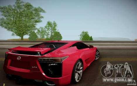 Lexus LFA pour GTA San Andreas laissé vue